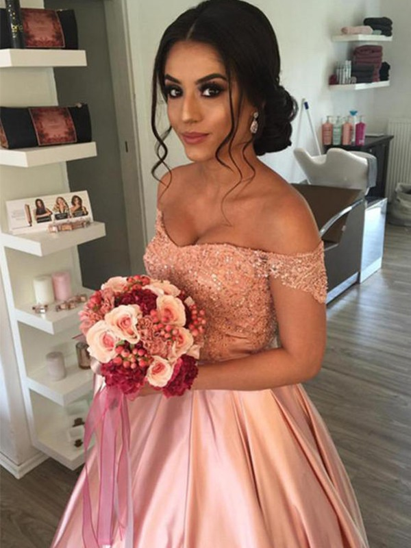Ball Gown Sleeveless Satin Cathedral Train Wedding Dress