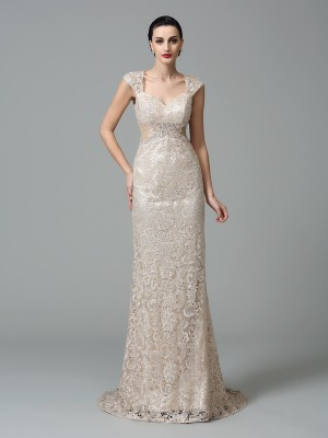 Sheath/Column Straps Lace Dress