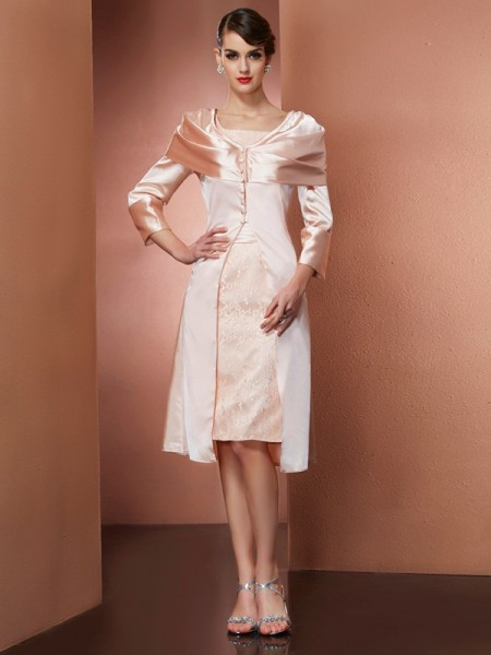 Elegant Elastic Woven Satin Long Sleeves Special Occasion Wrap