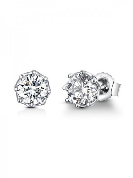 Brilliant S925 Silver With Cubic Zirconia Earrings