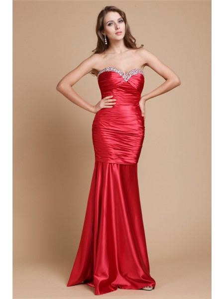Trumpet/Mermaid Sweetheart Long Elastic Woven Satin Dress