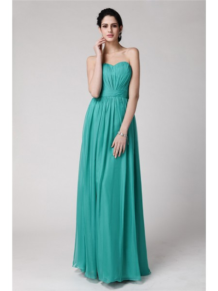 Sheath/Column Sweetheart Pleats Chiffon Bridesmaid Dress
