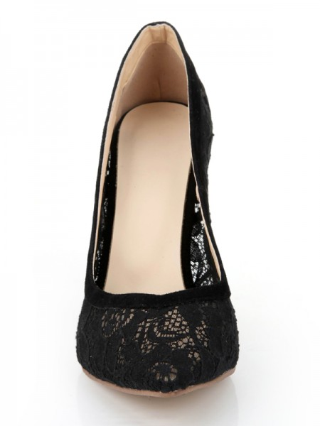 Lace Black Office High Heels S2LSDN1162LF